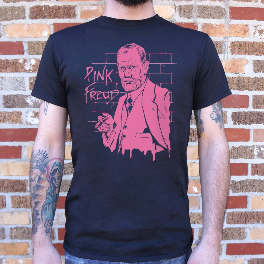Dark Slate Gray Pink Freud T-Shirt (Mens) Small / Black,Medium / Black,Large / Black,X-Large / Black,2X-Large / Black,3X-Large / Black,Small / Charcoal,Medium / Charcoal,Large / Charcoal,X-Large / Charcoal,2X-Large / Charcoal,3X-Large / Charcoal,Small / Navy Blue,Medium / Navy Blue,Large / Navy Blue,X-Large / Navy Blue,2X-Large / Navy Blue,3X-Large / Navy Blue