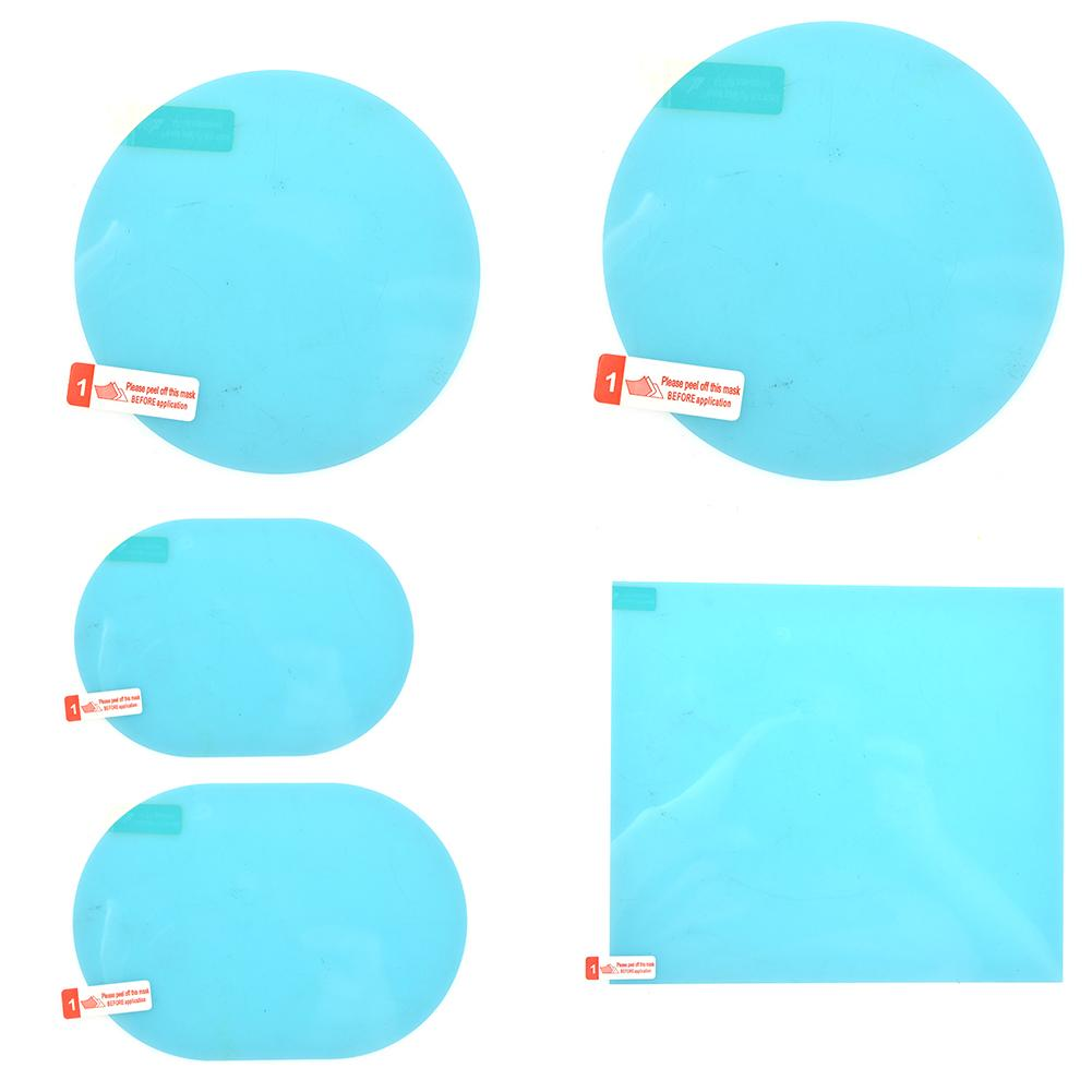 Light Sky Blue Car Rearview Mirror Waterproof Anti-Fog Rain-Proof Film Round 80x80mm,Round 95x95mm,Ellipse 95x135mm,Ellipse 100x150mm,Square 175x200mm