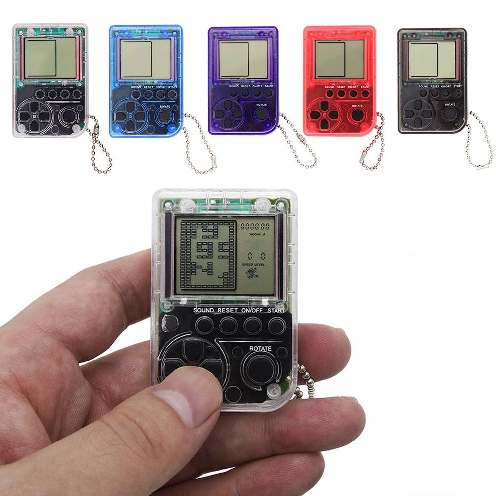 Dark Olive Green Mini Console Game Machine Keychain Sky Blue,Other,Black,Gray,Blue