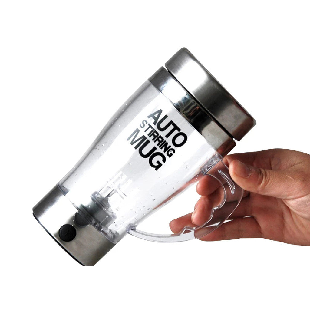 White Smoke Transparent Automatic Self Stirring Mug United States