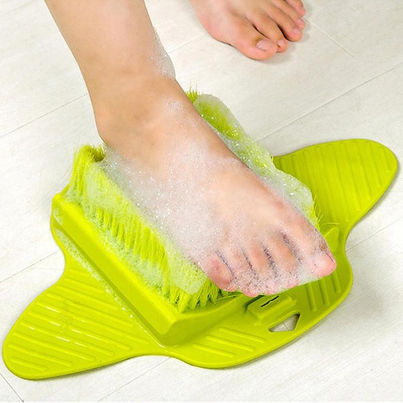 Tan Plastic Bath Shower Foot Brush Scrubber Remove Dead Skin Blue 1,Pink,Blue,Green,Red