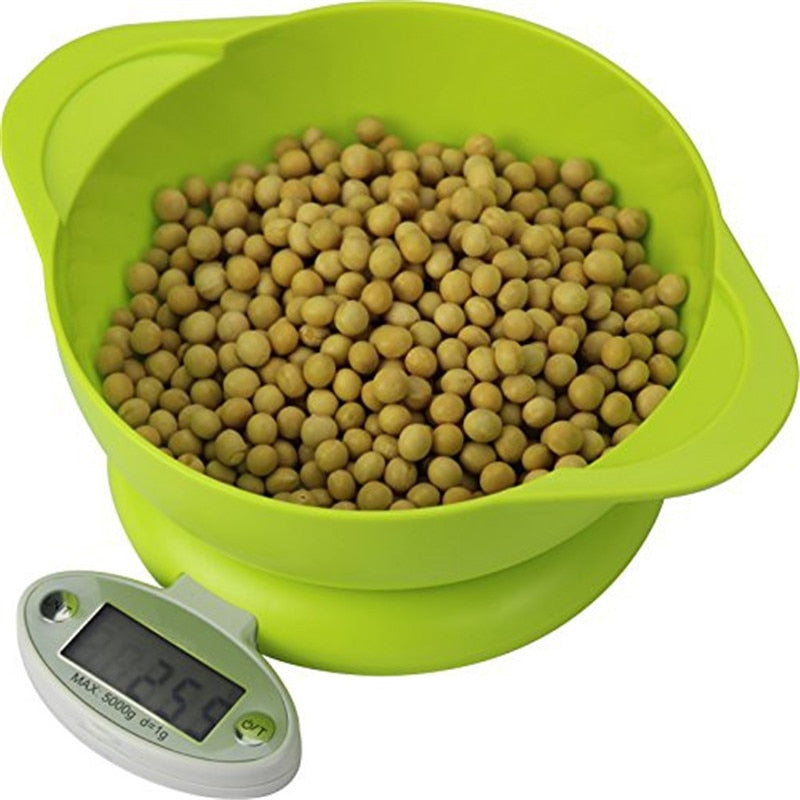 Sienna 11lb/5KG/1g LCD Display Electronic Kitchen Scale Default Title