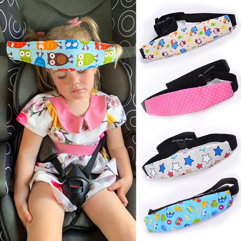 White Smoke Car Seat Sleep Positioner Head Support For Children blue star,blue car,blue owl,pink owl,pink star,yellow letter,beige sheep