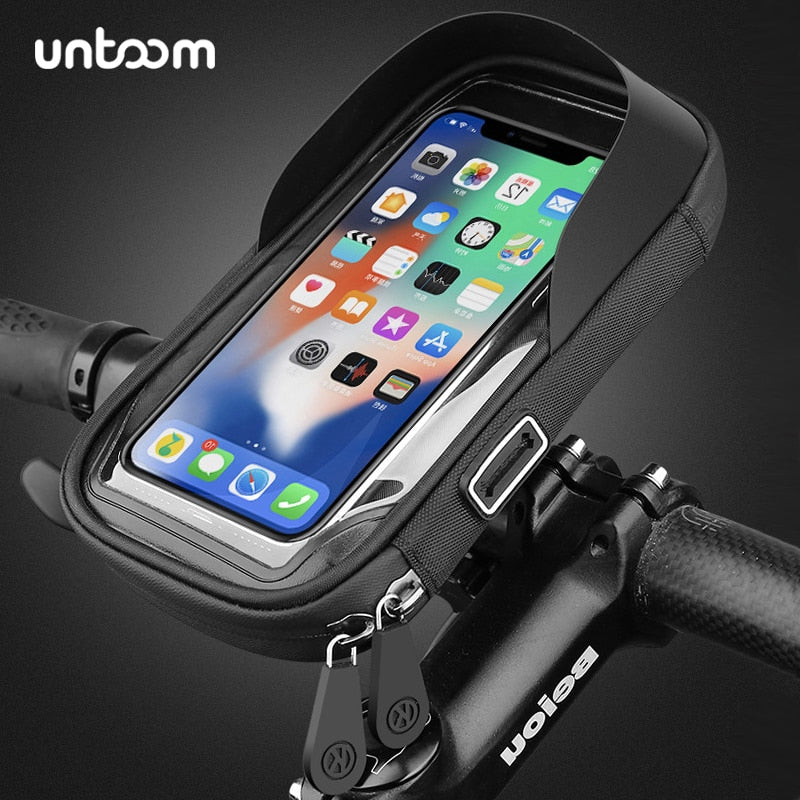 Dark Slate Blue 6.4 inch Waterproof Bicycle Phone Holder Stand Default Title