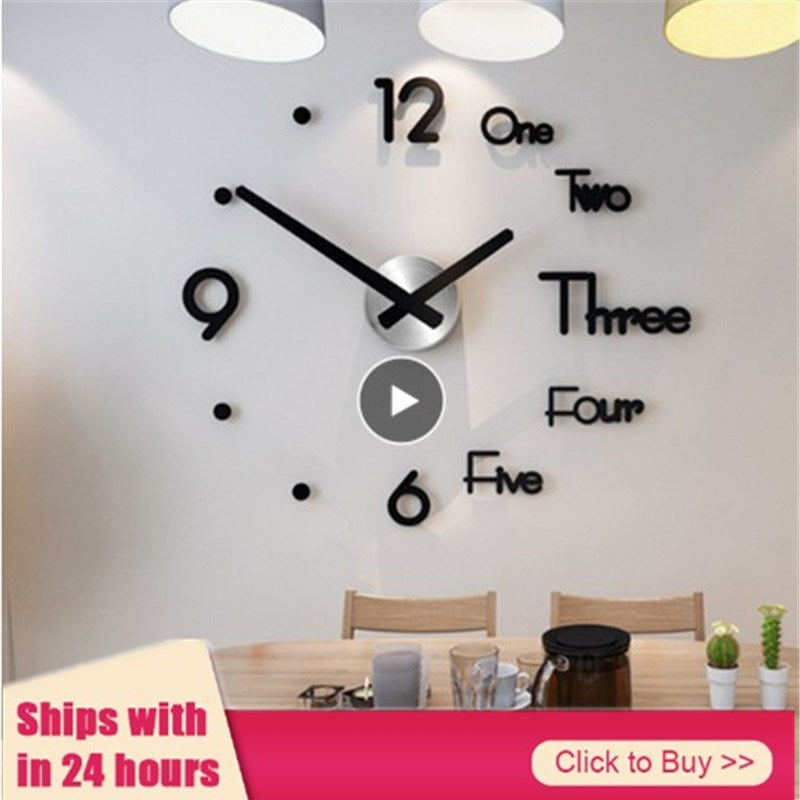 Gray Wall Clock Stickers 3D Modern Watch slive / S / China,slive / L / United States,slive / S / United States,gold / S / United States,gold / S / China,slive / L / China,gold / S / France,gold / L / China,black / S / United States,gold / L / United States,black / L / China,black / S / China,black / L / United States