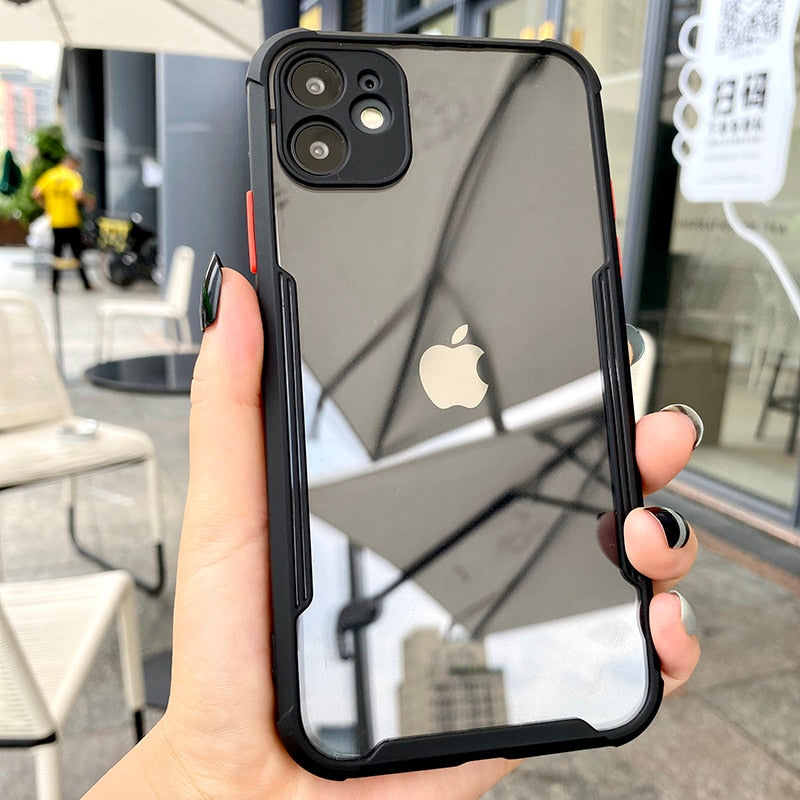 Dark Gray Luxury Shockproof Frame Clear Phone Case White / for iphone SE 2020,White / For iPhone 11Pro MAX,White / for iphone 7 Plus,White / for iphone 7,White / for iphone XR,White / for iphone XS Max,White / For iPhone 11 Pro,White / For iPhone 11,White / for iphone 8 Plus,White / for iphone 8,White / for iphone XS,White / for iphone X,Black / for iphone SE 2020,Black / For iPhone 11Pro MAX,Black / for iphone 7 Plus,Black / for iphone 7,Black / for iphone XR,Black / for iphone XS Max,Black / For iPhone 11