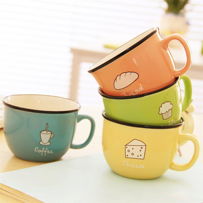 Light Goldenrod Best Soup Mugs Green,Orange,Yellow,Blue