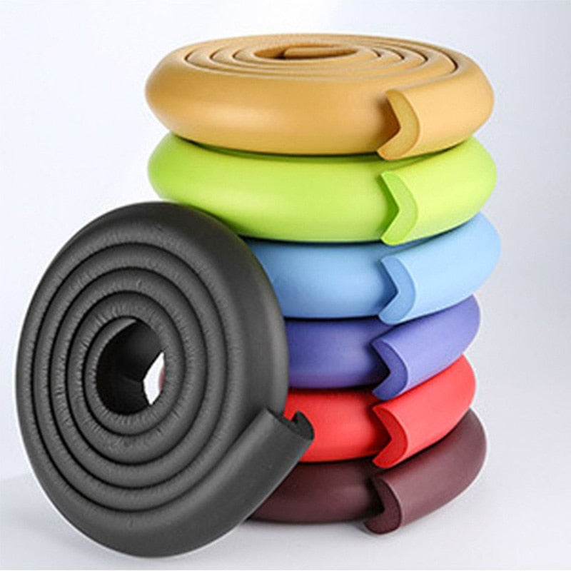 Light Goldenrod 2M Baby Safety Table Desk Edge Guard Strip black 23mm,white 23mm,blue 23mm,pink 23mm,gray 23mm,brown 23mm,creamy white23mm