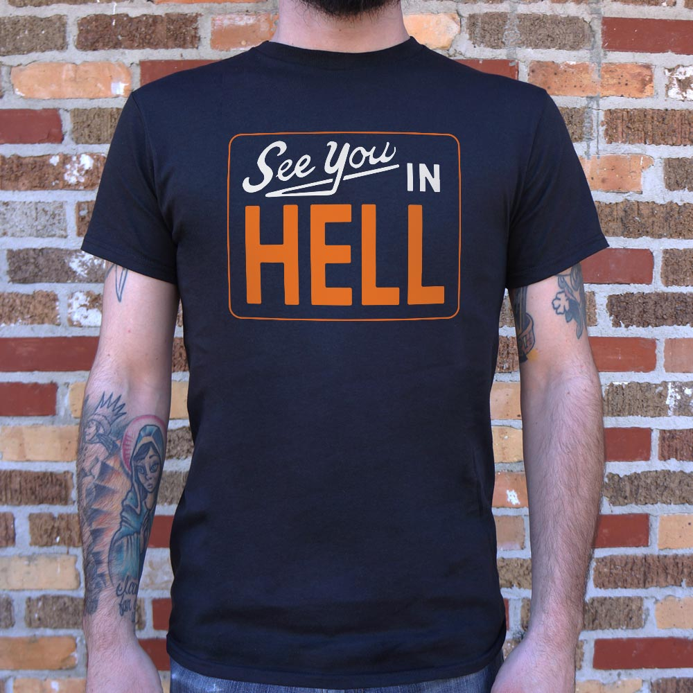 Dark Slate Gray See You In Hell T-Shirt (Mens) Small / Black,Medium / Black,Large / Black,X-Large / Black,2X-Large / Black,3X-Large / Black,Small / Charcoal,Medium / Charcoal,Large / Charcoal,X-Large / Charcoal,2X-Large / Charcoal,3X-Large / Charcoal,Small / Brown Heather,Medium / Brown Heather,Large / Brown Heather,X-Large / Brown Heather,2X-Large / Brown Heather,3X-Large / Brown Heather,Small / Navy Heather,Medium / Navy Heather,Large / Navy Heather,X-Large / Navy Heather,2X-Large / Navy Heather,3X-Large