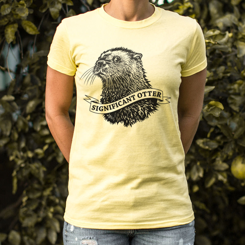 Pale Goldenrod Significant Otter T-Shirt (Ladies) Small / Gray Granite,Medium / Gray Granite,Large / Gray Granite,X-Large / Gray Granite,Small / Soft Pink,Medium / Soft Pink,Large / Soft Pink,X-Large / Soft Pink,Small / Sky Blue,Medium / Sky Blue,Large / Sky Blue,X-Large / Sky Blue,Small / Snow,Medium / Snow,Large / Snow,X-Large / Snow