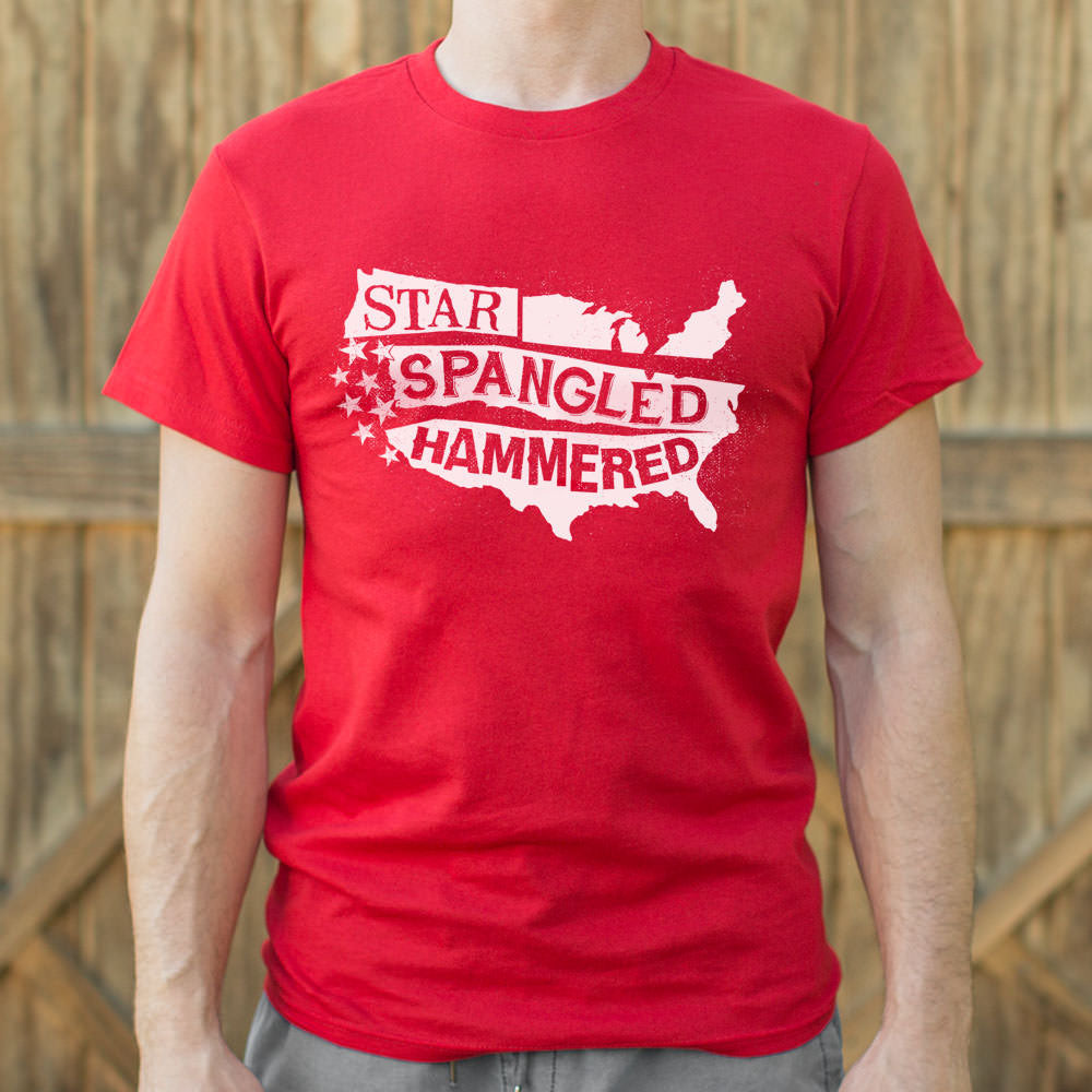 Firebrick Star-Spangled Hammered T-Shirt (Mens) Small / Red,Medium / Red,Large / Red,X-Large / Red,2X-Large / Red,3X-Large / Red,Small / Red Heather,Medium / Red Heather,Large / Red Heather,X-Large / Red Heather,2X-Large / Red Heather,3X-Large / Red Heather,Small / Black,Medium / Black,Large / Black,X-Large / Black,2X-Large / Black,3X-Large / Black,Small / Gray Heather,Medium / Gray Heather,Large / Gray Heather,X-Large / Gray Heather,2X-Large / Gray Heather,3X-Large / Gray Heather,Small / Navy Blue,Medium /