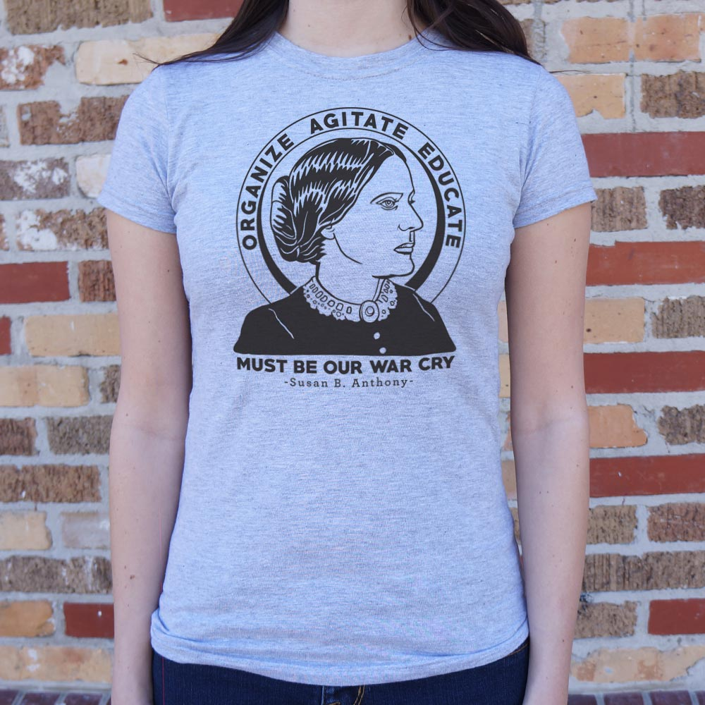 Light Steel Blue Susan B. Anthony Quote T-Shirt (Ladies) Small / Gray Granite,Medium / Gray Granite,Large / Gray Granite,X-Large / Gray Granite,Small / Soft Pink,Medium / Soft Pink,Large / Soft Pink,X-Large / Soft Pink,Small / Snow,Medium / Snow,Large / Snow,X-Large / Snow,Small / Lucky Green,Medium / Lucky Green,Large / Lucky Green,X-Large / Lucky Green,Small / Deep Red,Medium / Deep Red,Large / Deep Red,X-Large / Deep Red,Small / Sky Blue,Medium / Sky Blue,Large / Sky Blue,X-Large / Sky Blue