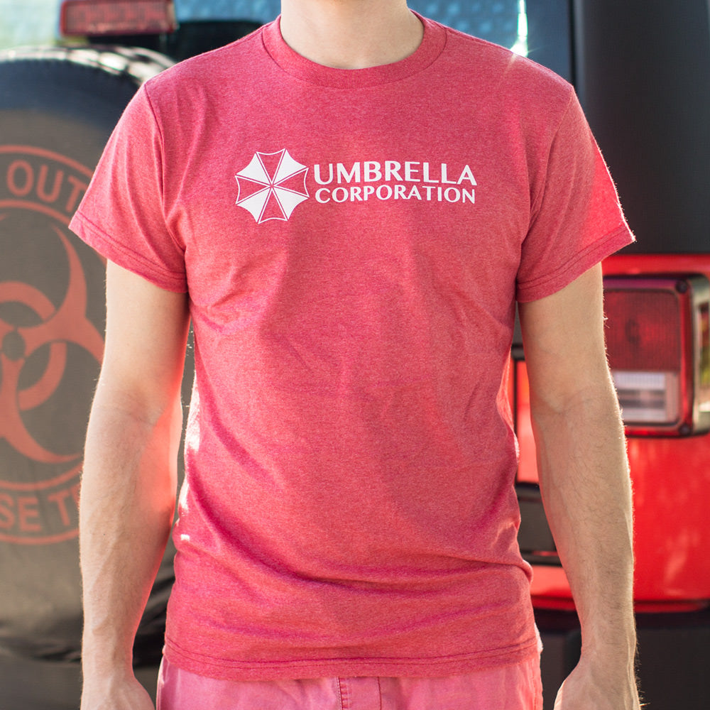 Maroon Umbrella Corporation T-Shirt (Mens) Small / Red Heather,Medium / Red Heather,Large / Red Heather,X-Large / Red Heather,2X-Large / Red Heather,3X-Large / Red Heather,Small / Kelly Green,Medium / Kelly Green,Large / Kelly Green,X-Large / Kelly Green,2X-Large / Kelly Green,3X-Large / Kelly Green,Small / Red,Medium / Red,Large / Red,X-Large / Red,2X-Large / Red,3X-Large / Red,Small / Navy Heather,Medium / Navy Heather,Large / Navy Heather,X-Large / Navy Heather,2X-Large / Navy Heather,3X-Large / Navy Hea