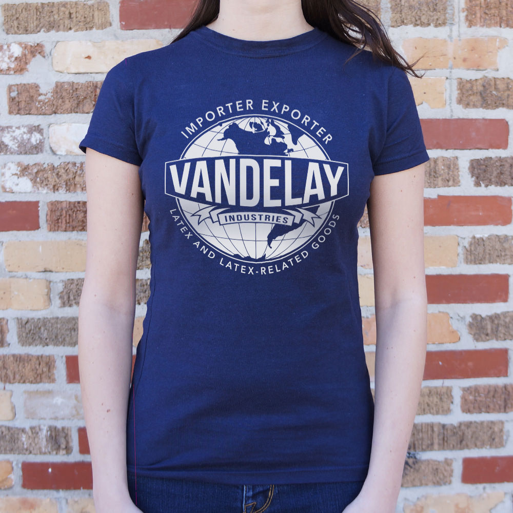 Midnight Blue Vandelay Industries Latex And Latex-Related Goods T-Shirt (Ladies) Small / True Navy,Medium / True Navy,Large / True Navy,X-Large / True Navy,Small / Deep Red,Medium / Deep Red,Large / Deep Red,X-Large / Deep Red,Small / Lucky Green,Medium / Lucky Green,Large / Lucky Green,X-Large / Lucky Green,Small / Deep Ash,Medium / Deep Ash,Large / Deep Ash,X-Large / Deep Ash,Small / Chocolate,Medium / Chocolate,Large / Chocolate,X-Large / Chocolate,Small / Sky Blue,Medium / Sky Blue,Large / Sky Blue,X-La