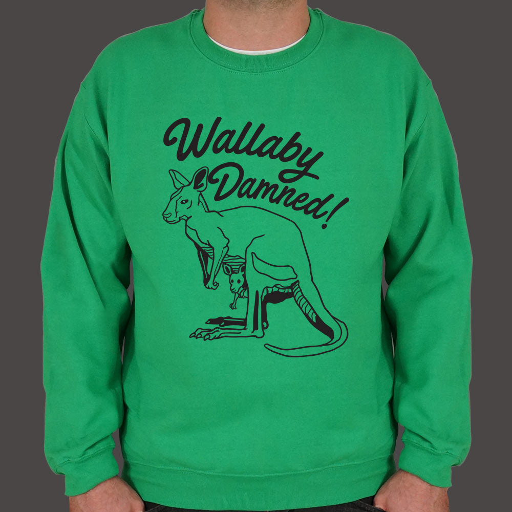 Medium Sea Green Wallaby Damned Sweater (Mens) Small / Kelly Green,Medium / Kelly Green,2X-Large / Kelly Green,Large / Kelly Green,X-Large / Kelly Green,3X-Large / Kelly Green