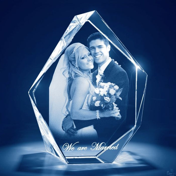 Midnight Blue Personalized Custom Photo Crystals Featuring 3D Glass Pictures Prestige Small,Medium +$130.00,Large +$230.00