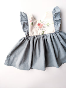 Narrow Sleeve Flutter Dress + $35