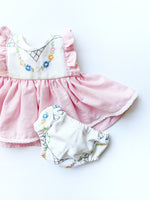 """Brenna"" Flutter Sleeve Dress + Bloomers set- Size 0/3 Months"