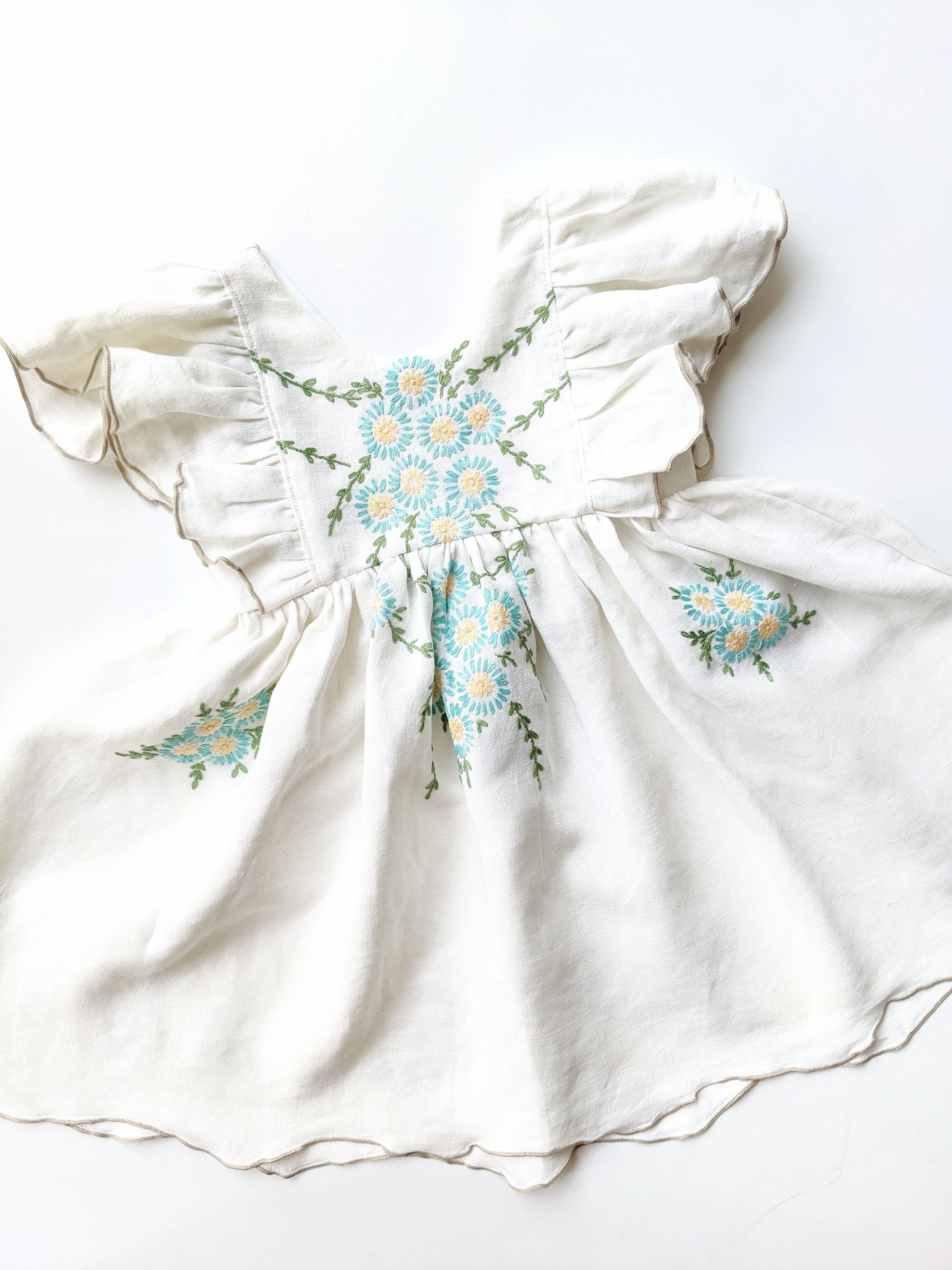 Flutter Dress (full embroidery) + $60