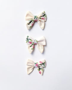 Small Embroidered Bows