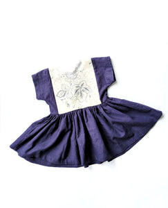Embroidered Peplum Dress- Size 3/4T