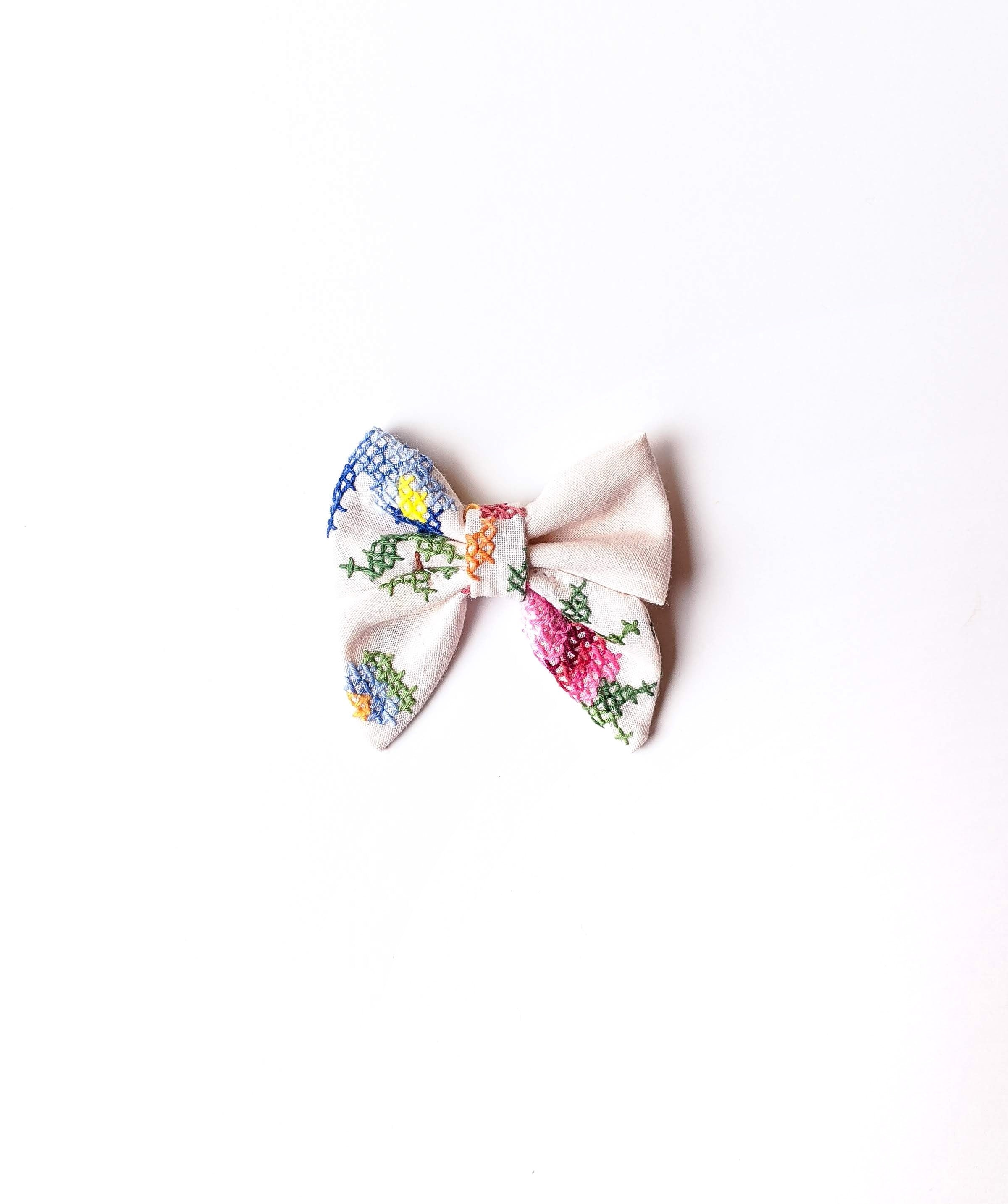 Small Embroidered Bow