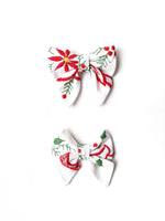 """Juliet"" Small Embroidered Bow"