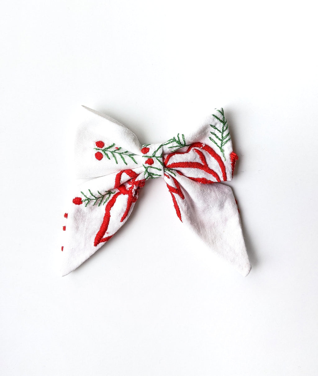 """Juliet"" Embroidered Bow"