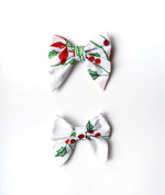 """Esther"" Small Embroidered Bow"