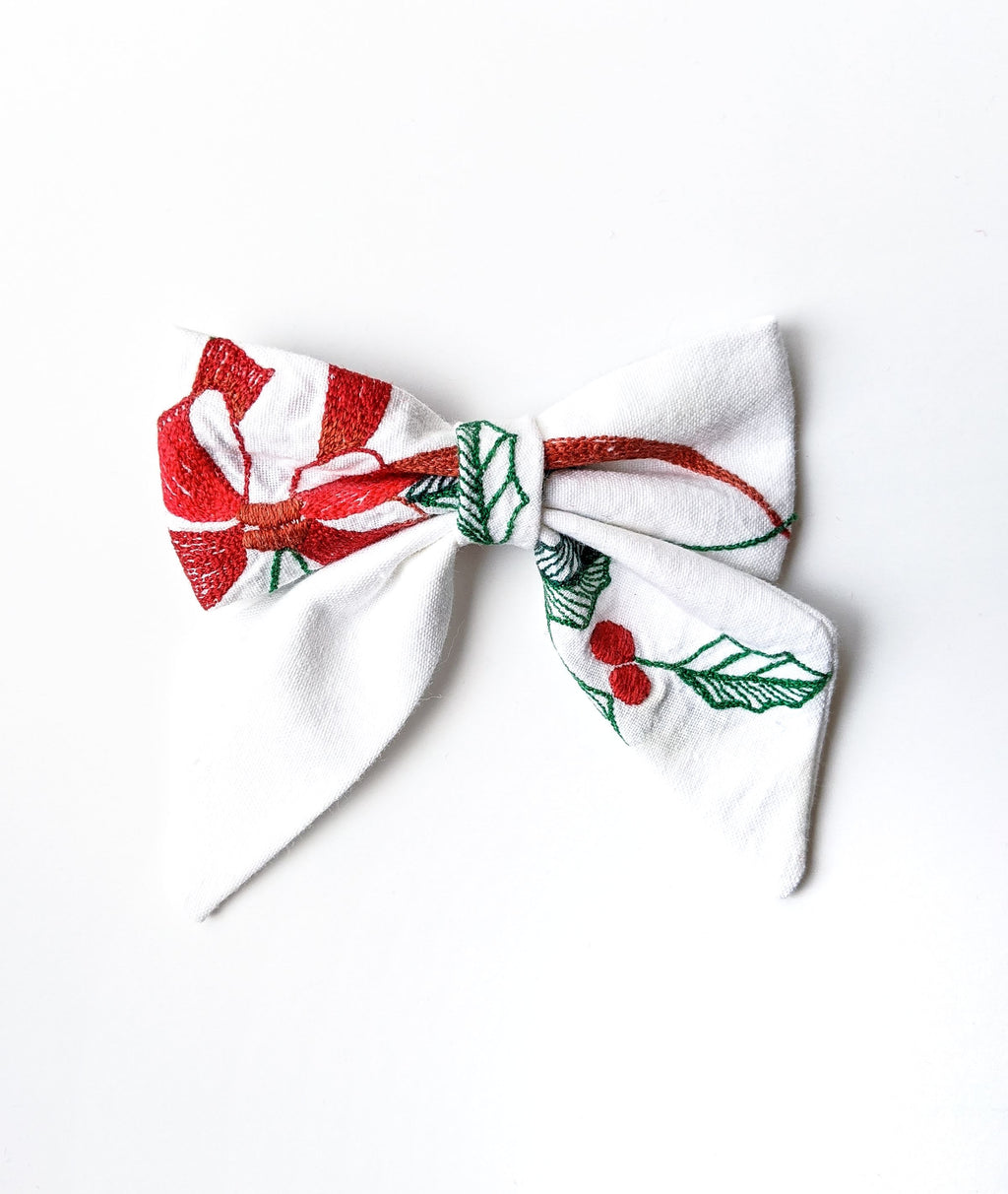 """Clarice"" Embroidered Bow"