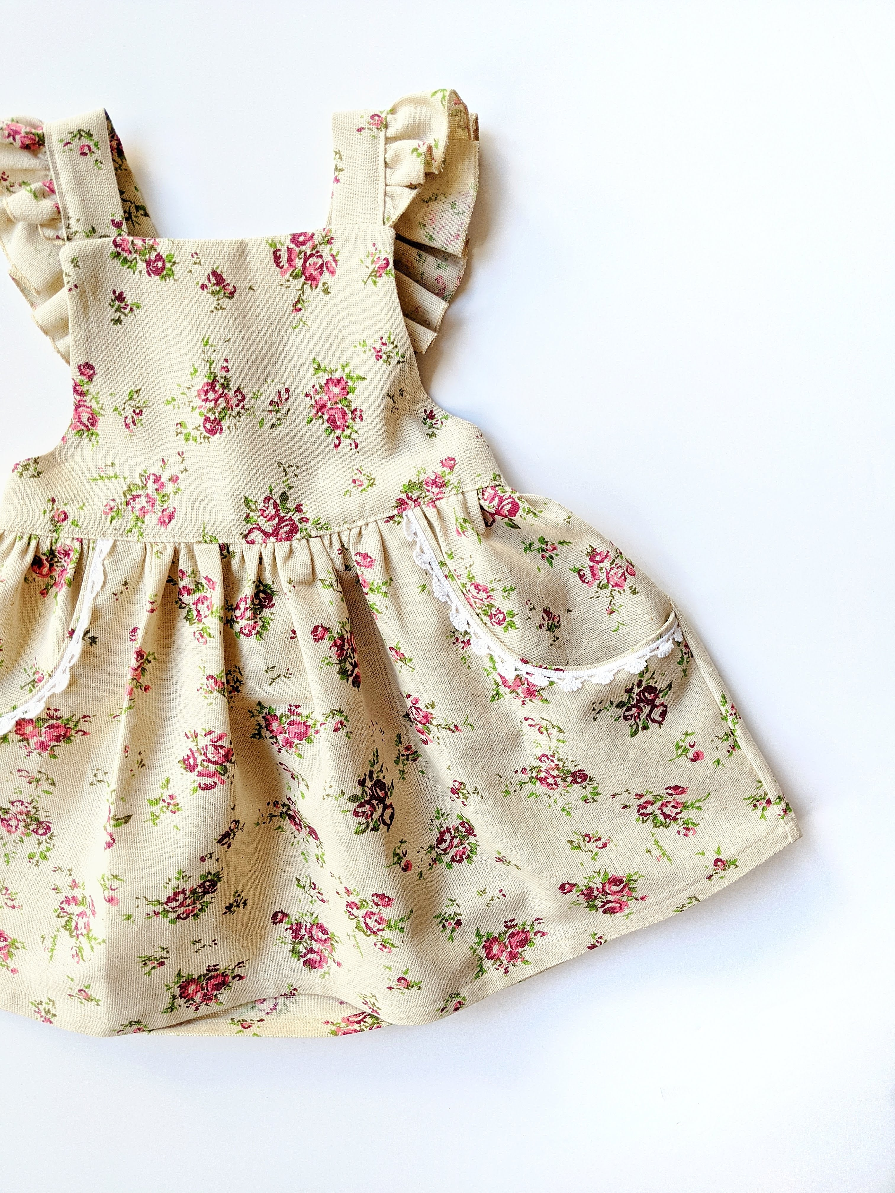 Vintage Pinafore Dress- Size 3/4T