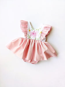 Sara Skirted Romper (partial embroidery) +$45