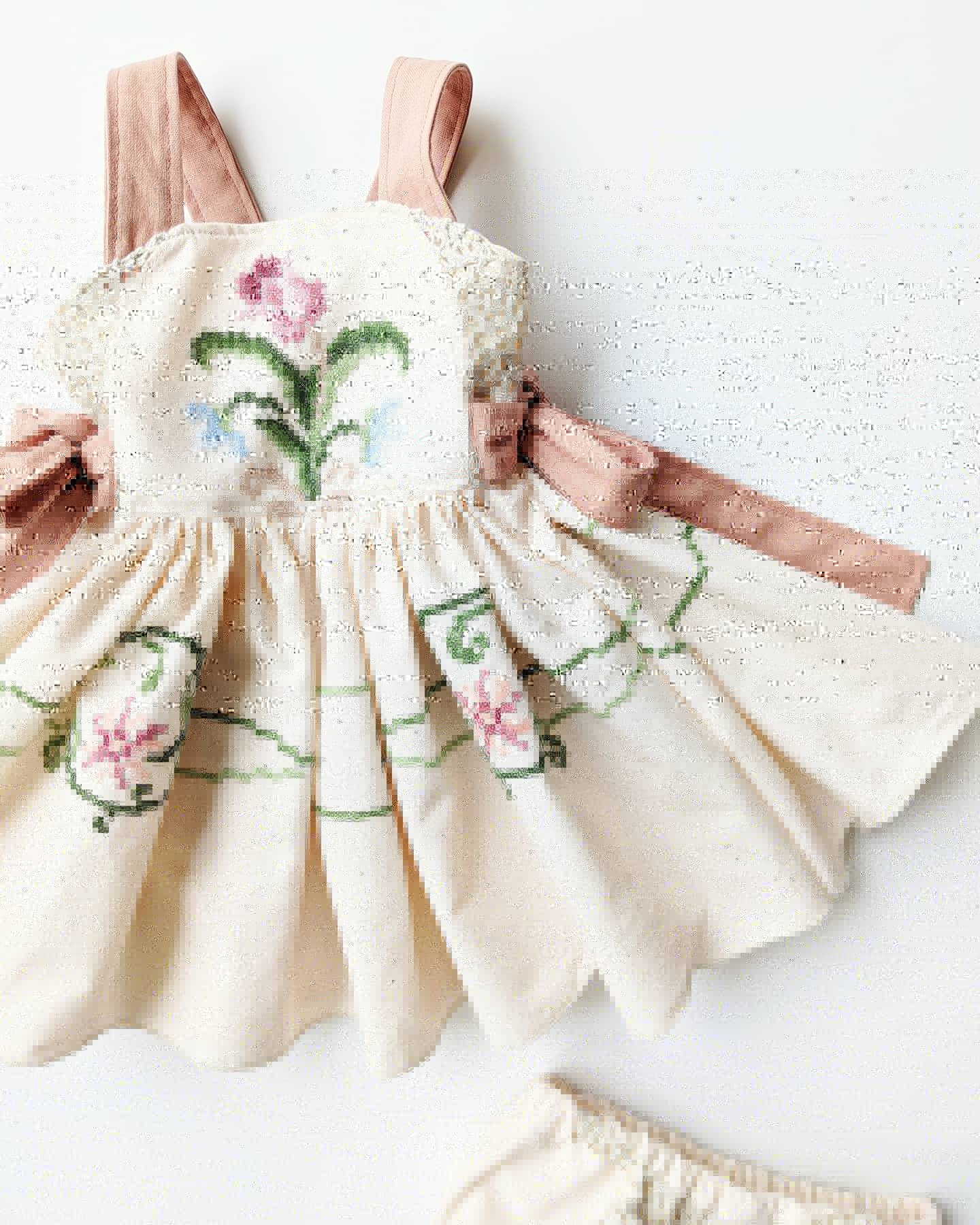 Babydoll Dress (full embroidery) +$60