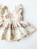 """Rosalie"" Embroidered Skirted Romper- Size 2T"