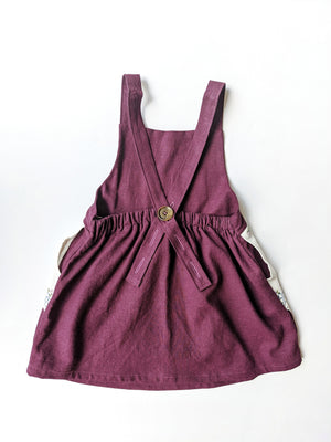 Embroidered Pocket Pinafore Dress- Size 4/5T