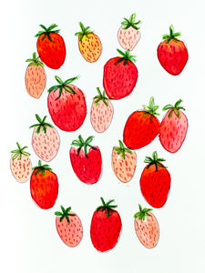 Watercolor Strawberries Digital Download
