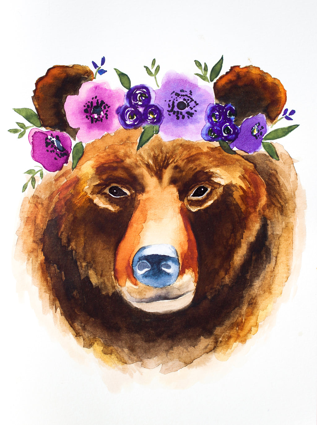 "Watercolor ""Boho Bear"" Digital Download"