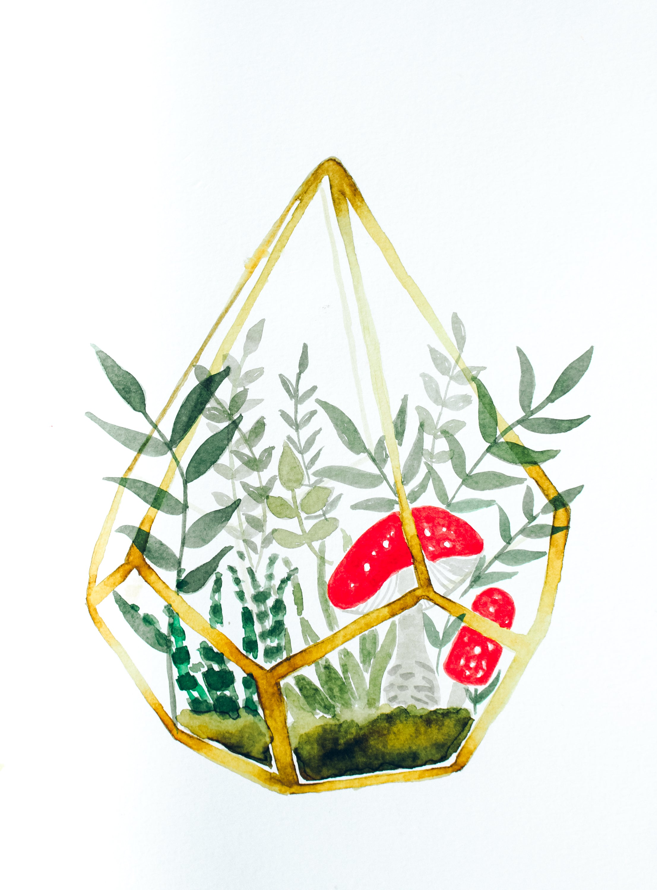 Watercolor Terrarium Digital Download