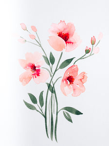 Watercolor Peonies Digital Download
