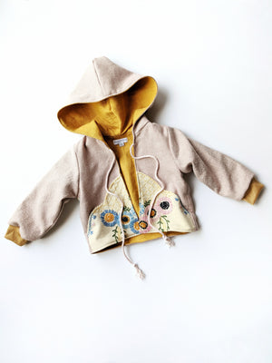 Embroidered Hooded Jacket- Size 2T