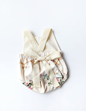 Embroidered Bubble Romper- Size 0/3 months (previous rental outfit)