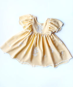 Embroidered Flutter Dress- Size 3T