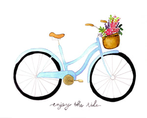 Watercolor Vintage Bike Digital Download