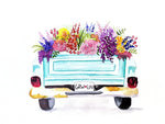 Watercolor Floral Truck Digital Download
