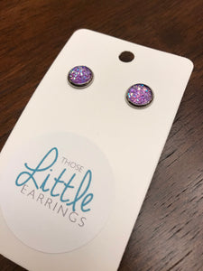 Darling Druzy Studs - Purple