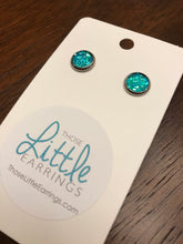 Load image into Gallery viewer, Darling Druzy Studs - Caribbean Blue