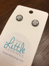 Load image into Gallery viewer, Darling Druzy Studs - Silver