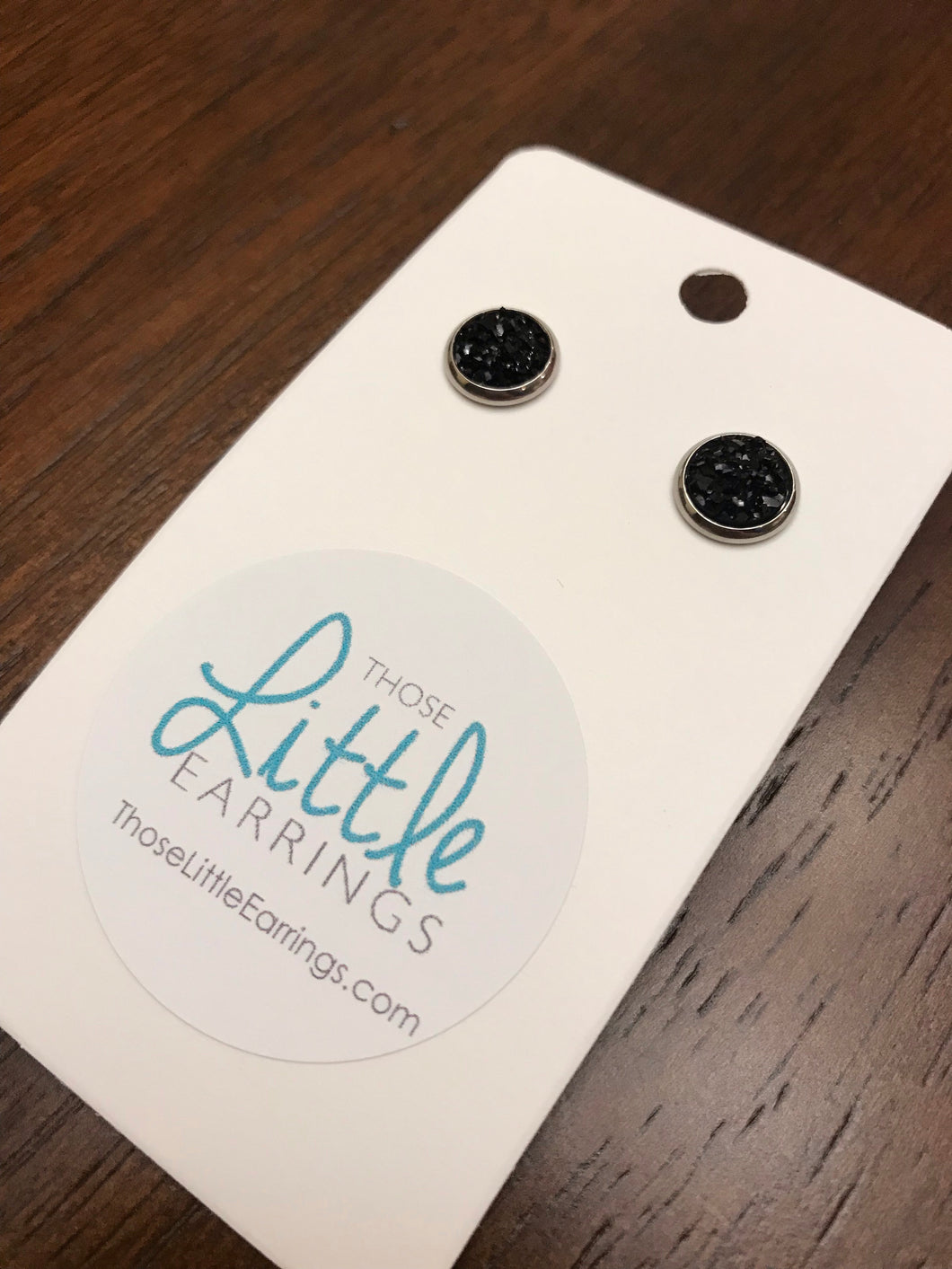 Darling Druzy Studs - Black