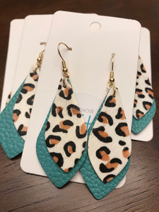 Leopard Teal Double