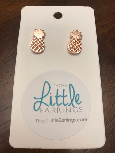 Pineapple Studs - Rose Gold